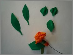 Papierblumen orange7 Tutorials, Dressmaking, Hobbies