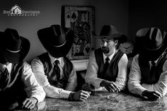 The Groom and his boys in the Man Cave Photographed by: Brad Quarrington Photography @ Coldstream Farm The Man, Man Cave, Cowboy Hats, Originals, Groom, Boys, Pictures, Photography, Photos