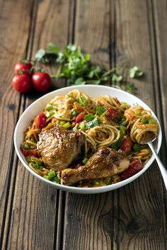 Chakalaka Chicken Pasta!  Glorious #SouthAfrican flavours combined with pasta and grilled chicken to create a dinner winner. #MyMzansiPasta #Pasta #Knorr #Chakalaka #SouthAfricanFood