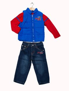 'Music World' Vest Set- Infant and toddler. Available in blue/red and navy/orange. Only $29.99