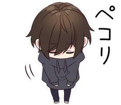 It is a cute sticker of Menhera-kun. Dibujos Anime Chibi, Cute Anime Chibi, Anime Girl Cute, Kawaii Chibi, Anime Art Girl, Kawaii Anime, Anime Grim Reaper, Chibi Boy, Dark Comics