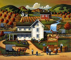 Amish Potatoes, by Eric Dowdle Amish Collection Dowdle Folk Art