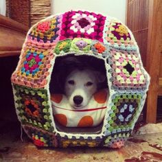 Crazy Yarn Projects You've Never Even Dared To Try - Granny square dog house / cat house