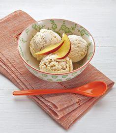 Peach ice-cream. Food stylist: Henrietta Clancy. Photograph: Johanna Parkin for the Guardian