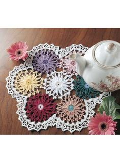 """Free pattern for """"Gerbera Doily""""!"""
