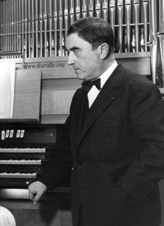 Maurice Duruflé (1902-1986). became chorister at the Rouen Cathedral Choir School, where he studied piano and organ. At age 17 he took organ lessons with Tournemire. In 1920 he entered the Conservatoire de Paris, eventually graduating with 1st prizes in organ, harmony, piano accompaniment, and composition. In 1927, Louis Vierne nominated him as his assistant at Notre-Dame. The two remained lifelong friends, and Duruflé was at Vierne's side acting as assistant when Vierne died in 1937