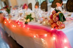 head table in wedding colors- whatever yours may be