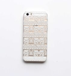 Amazon.com: 4s Case, LUOLNH Henna White Floral Paisley Flower Hard Plastic Clear Case Silicone Skin Cover for Apple Iphone 4 4G: Cell Phones & Accessories