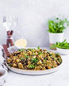 Top 10 Most Popular Recipes from 2019 Couscous Dishes, Couscous Recipes, Pearl Couscous, Cauliflower Couscous, Whole Roasted Cauliflower, Israeli Couscous Salad, Cream Sauce Pasta, Roast Eggplant, Eggplant Recipes