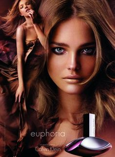 Euphoria Calvin Klein-Exotic floral-fruity fragrance Euphoria was launched in 2005. The fragrance is luminous and luscious like fruits notes of which are captured in it. Euphoria is mysterious and appealing like dark exotic flowers. It invites you to enjoy in joys of life. The main notes are rose hip, Japanese apple, green leaves, Lotus, black orchid, red woods, black violet and amber
