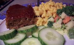 Mom's easy meatloaf recipe.  It will win you over with its caramelized brown sugar and ketchup topping.