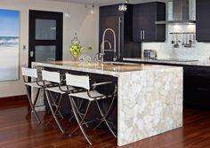 Puro - Caesarstone Designed byEmily LaMarque Design Studio  #quartz #caesarstone