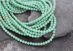15.74 inch full strand 4mm turquoise loose beads by madameperlina