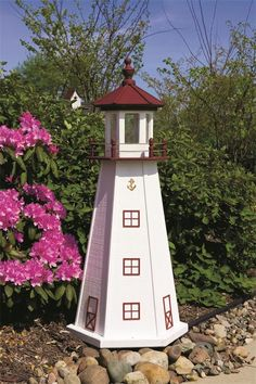 amish made marblehead wooden garden lighthouse - Amish Lighthouse Plans