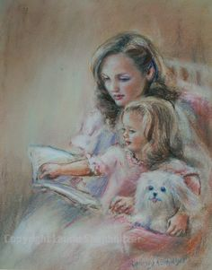 SALE Mothers day gift Mother child Art print by LaurieShanholtzer, $12.00