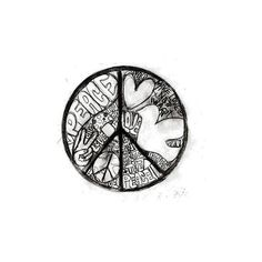 peace image, picture by Sara_lyn - Photobucket ❤ liked on Polyvore featuring peace, backgrounds, random, black et misc
