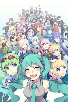 Vocaloids!!!!! wow I thought I knew them all but I only knew fifteen. (,-_-,)