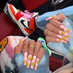Are you looking for the best coffin nail ideas? let 's find the amazing ballet shoe nails Edgy Nails, Aycrlic Nails, Grunge Nails, Stylish Nails, Swag Nails, Coffin Nails, Blush Nails, Nail Nail, Perfect Nails