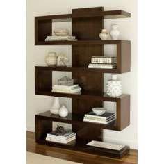 Ralston Chestnut Brown Finish Bookcase