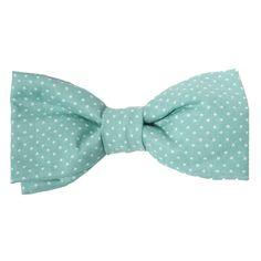 Classic Hound Collar Co.   Pin Dot Aqua Bow Tie #dogbowtie #dapperdog