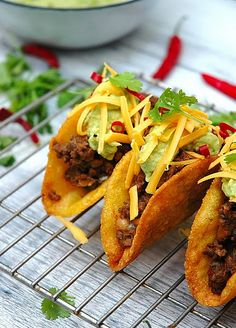 Authentic Mexican food is made with shredded boneless beef, no shortcuts!
