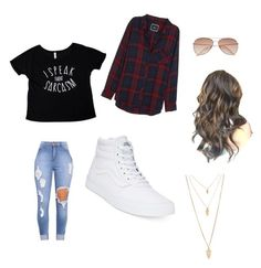 """""""Untitled #13"""" by danielafigueroa012 on Polyvore featuring Rails, Vans, H&M and Forever 21"""