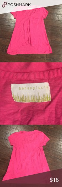 Anthropologie Top By Ben and Lucia. Hot pink t Shirt with a slight high low waist. Anthropologie Tops Tees - Short Sleeve