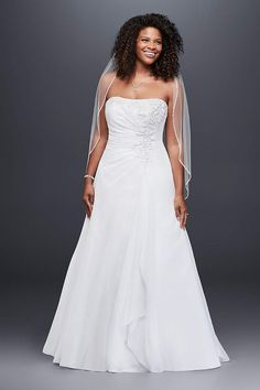View Strapless Long Wedding Dress at David's Bridal