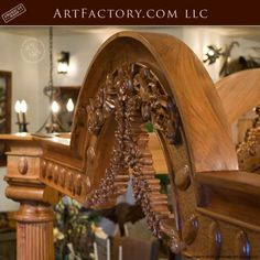 Custom Hand Carved Canopy Bed: Fine Art Designs By H. Nick - the finest quality furniture available anywhere at any price King Platform Bed Frame, Latest Bed, Wood Bed Design, Antique Beds, Wood Beds, Luxurious Bedrooms, Quality Furniture, Art Designs, Wooden Bedroom