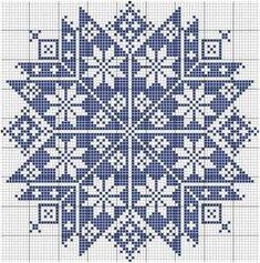 Ponto cruz (Monochrome Star), designed by Le point de croix martine (Martine Cross Stitch). Cross Stitch Freebies, Cross Stitch Charts, Cross Stitch Designs, Cross Stitch Patterns, Biscornu Cross Stitch, Cross Stitching, Cross Stitch Embroidery, Embroidery Patterns, Tapestry Crochet
