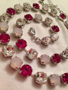 Swarovski Necklace (Any Three Colors) on Etsy, $60.00 (sabika inspired)