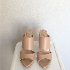 Flash saleJessica Simpson nude mules size 8.5 Jessica Simpson nude mules size 8.5 Jessica Simpson Shoes