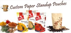 custom #paper stand up pouches