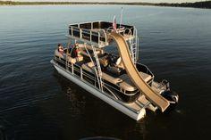 Double Decker Pontoon boat w/ waterslide!