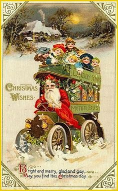 Merry Christmas, Xmas, Vintage Cards, Yoshi, Art Nouveau, Santa, Painting, Storage, Noel