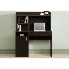 small office desk with hutch - Small Office Desk with Hutch - Diy Wall Mounted Desk, popular of puter desk hutch beautiful small office design ideas Office Desk With Hutch, Small Office Desk, Desk Hutch, Small Desks, Black Office, Black Desk, Computer Desk With Hutch, Big Desk, Computer Desks