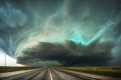 The 2017 Sony World Photography Awards - The Atlantic/Green monster. May 16, 2016, a tornado warned high precipitation supercell storm is rolling over the town of Stratford, Texas. Its structures and color seem unreal and belong to the most dramatic I have ever witnessed in many years. I only had a few moments to find a decent spot to capture this amazing view. There was a bigger gap in the traffic along the highway so I had enough time to take a few photos. The image is a panorama of two…