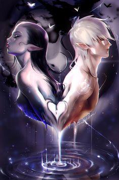Soul Mate  by sakimichan   #DigitalArt #DrawingsPaintings #Fantasy