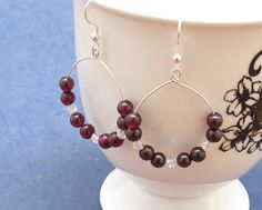 Red+Garnets+Basketball+Hoops+Swarovski+Crystal+by+AthenaisJewelry,+$30.00