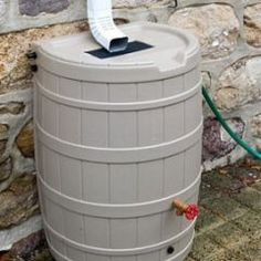 Recycle rain water for gardening or watering the yard.  I like the look of this one.