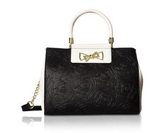 Betsey Johnson Womens Top Handle Logo Satchel -- Find out more about the great product at the image link. (This is an affiliate link) Betsey Johnson Handbags, Vera Bradley Tote, Prada Bag, Nylon Bag, Summer Bags, Leather Handle, Wallets For Women, Outfit, Lady