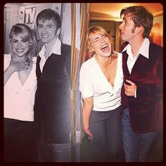David Tennant and Billie Piper, adorable