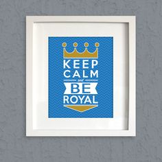 Keep Calm & BE ROYAL  Typographic Chevron Print  by LoubeeDesigns, $7.95