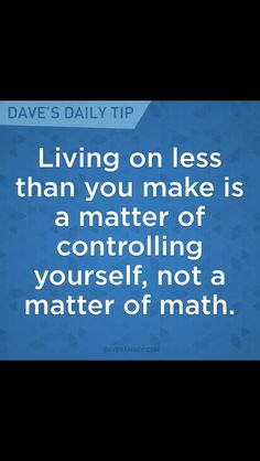 """Living well below your means = complete freedom from financial stress. """"Living o… – Finance tips, saving money, budgeting planner Financial Quotes, Financial Peace, Financial Success, Financial Literacy, Financial Planning, Budgeting Finances, Budgeting Tips, Dave Ramsey Quotes, Mantra"""