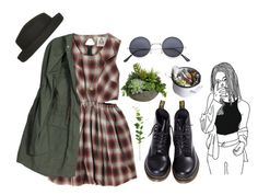 """""""Untitled eight"""" by in-gloom ❤ liked on Polyvore featuring Dr. Martens, Mason's and Diane James"""