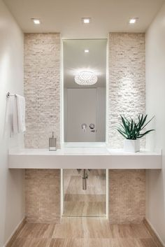Modern Bathroom photo by 2id Interiors - cool back splash for my spaaaa bathroom