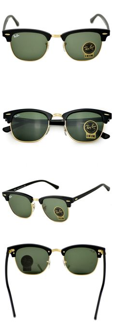 3ef4005767d Sunglasses and Sunglasses Accessories 179243  Ray-Ban Rb3016 Clubmaster  Classic W0365 Black Frame Green Classic G-15 Lenses -  BUY IT NOW ONLY    54.4 on ...
