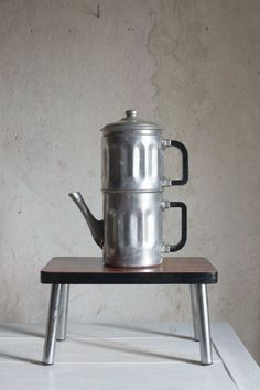French Coffee Maker // 1950 Coffee Pot in by FrenchAtticFinds