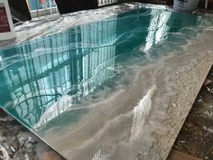 Epoxy Resin Art, Wood Resin, Acrylic Pouring Art, Acrylic Art, Resin Paintings, Resin Pour, Cool Art Projects, Resin Table, Beach Wall Art
