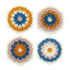 編んで広がるカラフルパターン 万華鏡みたいなかぎ針編みモチーフの会|フェリシモ
